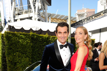 Ty Burrell Holly Burrell Celebs Attend the Audi Event at the 68th Emmy Awards