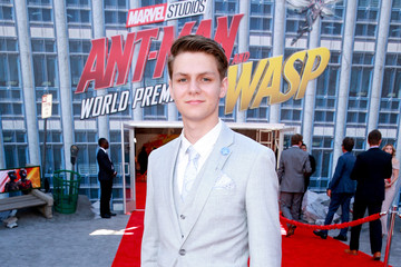 Ty Simpkins Premiere Of Disney And Marvel's 'Ant-Man And The Wasp' - Red Carpet