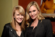 (L-R) Actresses Kathryn Morris and Natasha Henstridge attend Tyler Ellis Celebrates 5th Anniversary And Launch Of Tyler Ellis x Petra Flannery Collection at Chateau Marmont on January 31, 2017 in Los Angeles, California.