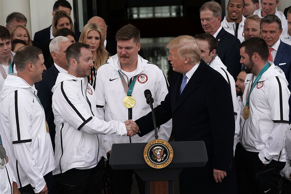 President Trump Welcomes U.S. Olympic Athletes To The White House