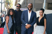 (L-R) Crystal Fox, Idris Elba, Tyler Perry and Kerry Washington attend Tyler Perry being honored with a Star on the Hollywood Walk of Fame on October 01, 2019 in Hollywood, California.