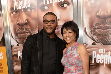 Tyler Perry Tina Gordon Chism Arrivals at the 'Peeples' Premiere in Hollywood 2