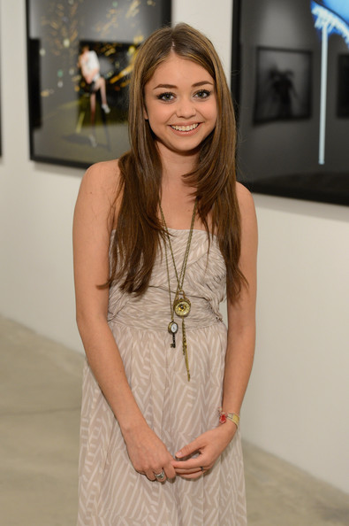 Actress Sarah Hyland attends Tyler Shields debut of MOUTHFUL presented by A/X Armani Exchange in support of LOVE IS LOUDER at a Private Studio on May 19, 2012 in Los Angeles, California.