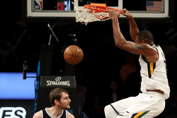 Tyler Zeller Utah Jazz v Brooklyn Nets