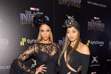 Tyra Banks The Cinema Society Hosts a Screening of Marvel Studios' 'Black Panther'