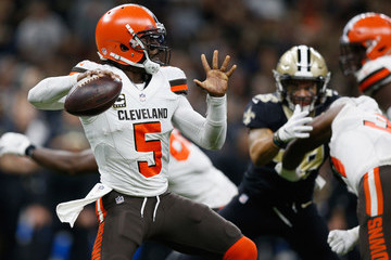 Tyrod Taylor Cleveland Browns vs. New Orleans Saints