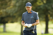 Justin Rose of England walks across a green during a practice round prior to the 120th U.S. Open Championship on September 15, 2020 at Winged Foot Golf Club in Mamaroneck, New York.