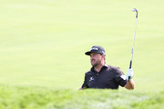 Graeme McDowell of Northern Ireland plays a shot during a practice round prior to the 120th U.S. Open Championship on September 15, 2020 at Winged Foot Golf Club in Mamaroneck, New York.