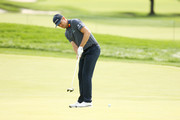 Justin Rose of England putts during a practice round prior to the 120th U.S. Open Championship on September 15, 2020 at Winged Foot Golf Club in Mamaroneck, New York.