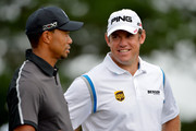 Tiger Woods and Lee Westwood Photos Photo