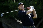 Retief Goosen of South Africa hits a shot on the 16th hole during the first round of the 110th U.S. Open at Pebble Beach Golf Links on June 17, 2010 in Pebble Beach, California.