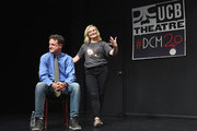 Matt Besser and Amy Poehler attend the UCB's 20th Annual Del Close Improv Marathon Press Conference at UCB Theatre on June 29, 2018 in New York City.
