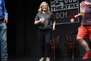 Amy Poehler attends the UCB's 20th Annual Del Close Improv Marathon Press Conference at UCB Theatre on June 29, 2018 in New York City.