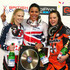Shanaze Reade Photos - Shanaze Reade of Great Britain celebrates with Brooke Crain of USA (l) and Merle van Benthem of Holland (r) after victory in the Women's Elite Final during the UCI BMX Supercross World Cup at the National Cycling Centre on April 20, 2013 in Manchester, England. - UCI BMX Supercross World Cup 2013