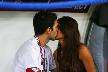 Cesc Fabregas Daniella Semaan UEFA EURO 2012 - Matchday 19 - Pictures Of The Day