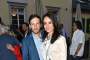 Franz Dinda and Stephanie Stumph attend the UFA Fiction Reception during the Munich Film Festival 2016 at Cafe Reitschule on July 2, 2018 in Munich, Germany.