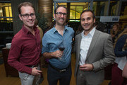 (L-R)  Bobby Hoppey of Echo Lake Productions, Cary Tusan and Chris Davis of Echo Lake Productions attend the UK Film and TV Week Los Angeles held at Craft on October 28, 2015 in Century City, California.
