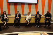 (L-R) Alyona Minkovski, Ken Payumo, Pernille Ironside, Emmanuel Jal and Kinan Azmeh speak at the UN Celebrates World Humanitarian Day at United Nations on August 19, 2014 in New York City.
