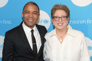 CNN International Anchor George Howell and President of UNICEF Caryl Stern attend UNICEF's Evening For Children First at The Foundry At Puritan Mill on March 17, 2017 in Atlanta, Georgia.
