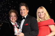 (L-R) CEO & President UNICEF USA Caryl Stern, honoree and Global Philanthropist Award recipients actor Rob Lowe and designer Sheryl Lowe at the UNICEF Gala at The Ritz-Carlton, Dallas on February 3, 2018 in Dallas, Texas.