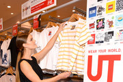 UNIQLO, Nina Agdal and Leigh Lezark Celebrate Store Opening with VIP Event at Hudson Yards, NYC on March 14, 2019 in New York City.