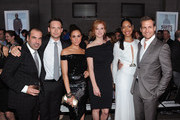 "(L-R) Rick Hoffman, Patrick J. Adams, Meghan Markle, Sarah Rafferty, Gina Torres and Gabriel Macht of Suits attend USA Network and Mr Porter.com Present ""A Suits Story"" on June 12, 2012 in New York, United States."