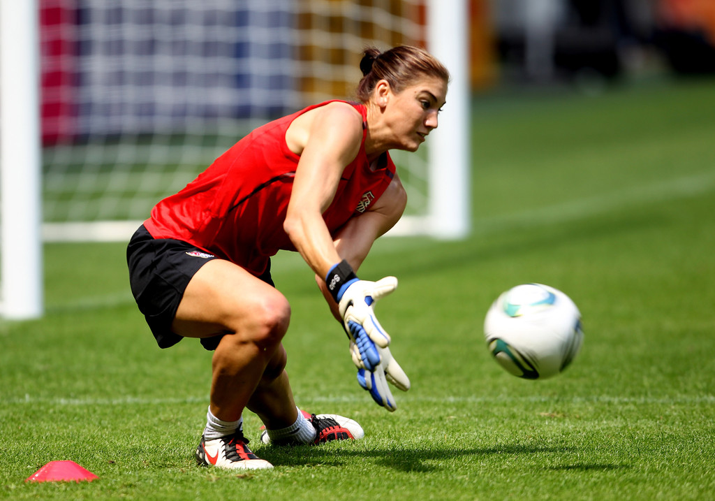 Hope Solo in USA Training & Press Conference - FIFA Women ...