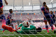Tobin Heath #17 of the United States of America celebrates scoring her goal against goalkeeper Ayumi Kaihori #18 of Japan in the FIFA Women's World Cup Canada 2015 Final at BC Place Stadium on July 5, 2015 in Vancouver, Canada.