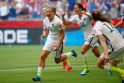 Tobin Heath #17 of the United States celebrates with teammates after Heath scores in the second half against Japan in the FIFA Women's World Cup Canada 2015 Final at BC Place Stadium on July 5, 2015 in Vancouver, Canada.