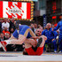 "Tervel Dlagnev Photos - Tervel Dlagnev of Team USA knocks Barsag Kesaev of Russia to the mat in a freestyle wrestling match during the 2011 ""Beat The Street"" Gala on May 5, 2011 in Times Square, New York City. - USA v Russia"