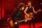 Joan Jett and the Blackhearts perform onstage during the USO 75th Anniversary Armed Forces Gala & Gold Medal Dinner at Marriott Marquis Times Square on December 13, 2016 in New York City.