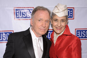 TV Host Dick Cavett and Joan Ashner attend the 50th USO Armed Forces gala & Gold Medal dinner at The New York Marriott Marquis on December 7, 2011 in New York City.