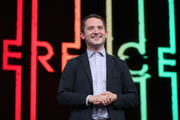 Elijah Wood, Actor and Creative Director at Spectrrevision, speaks during the Ubisoft E3 conference at the Orpheum Theater on June 11, 2018 in Los Angeles, California. The E3 Game Conference begins on Tuesday June 12.