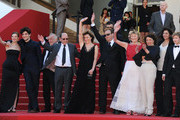 Celine Sallette, Louis Garrel, Andre Wilms, Valeria Bruni Tedeschi,Xavier Beauvois, Filippo Timi and Marie Riviere attends the premiere for 'Un Chateau en Italie' during the 66th Annual Cannes Film Festival at Palais des Festivals on May 20, 2013 in Cannes, France.