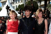 Actors Marisa Borini,  Louis Garrel and director Valeria Bruni Tedeschi  attend the premiere for 'Un Chateau en Italie' during the 66th Annual Cannes Film Festival at Palais des Festivals on May 20, 2013 in Cannes, France.