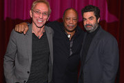 """Moderator Nic Harcourt, composer Quincy Jones and drector Joe Berlinger attend a special screening of A&E Entertainment's """"Under African Skies"""" on June 8, 2012 in Los Angeles, California."""