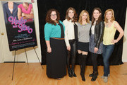 (L-R) Actresses Dierdre Friel, Kate Loprest, Kerry Butler, Allison Strong and Megan Sikora attend the 'Under My Skin' cast meet & greet on March 24, 2014 in New York City.