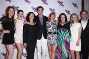 Actors Allison Strong, Kate Loprest, Fran Drescher, Matt Walton, Megan Sikora, Dierdre Friel, Kerry Butler and Andrew Polk attend Under My Skin Opening Night at Shubert Theatre on May 15, 2014 in New York City.