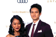 Shelby Rabara and Harry Shum Jr. attend the Unforgettable Gala 2018 at The Beverly Hilton Hotel on December 08, 2018 in Beverly Hills, California.