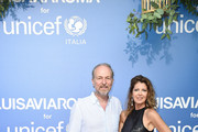 Arturo Artom and Anna Repini attend the photocall at the Unicef Summer Gala Presented by Luisaviaroma at  on August 09, 2019 in Porto Cervo, Italy.