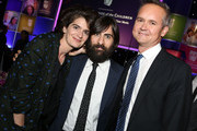 (L-R) Actors Gaby Hoffmann, Jason Schwartzman, and honoree Roy Price attend United Friends Of The Children Brass Ring Awards Dinner honoring Roy Price and Ande Rosenblum at The Beverly Hilton Hotel on June 2, 2015 in Beverly Hills, California.