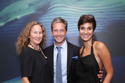 (L-R) Dianna Cohen,  Fabien Cousteau, and Asher Jay attend the United Nations x Parley For The Oceans Launch Event at the United Nations General Assembly Hall on June 29, 2015 in New York City.