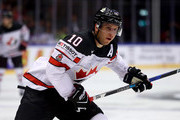 Brayden Schenn of Canada skates against the United States during the 2018 IIHF Ice Hockey World Championship group stage game between United States and Canada at Jyske Bank Boxen on May 4, 2018 in Herning, Denmark.