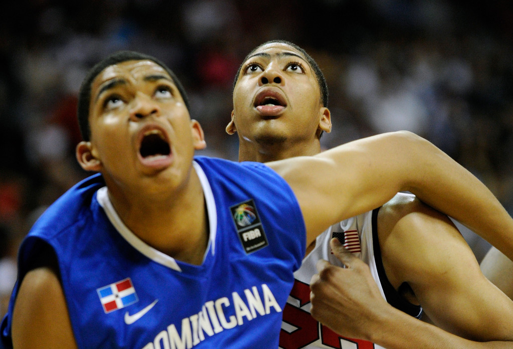 Anthony Davis and Karl Towns Photos Photos - United States v