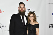 Rory Hershkovitz (L) and Lisa Loeb attend the Universal Music Group's 2019 After Party To Celebrate The GRAMMYs at ROW DTLA on February 10, 2019 in Los Angeles, California.