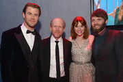 (L-R) Actor Chris Hemsworth, director Ron Howard, actress Bryce Dallas Howard and actor Seth Gabel attend the Universal, NBC, Focus Features, E! sponsored by Chrysler viewing and after party at The Beverly Hilton Hotel on January 12, 2014 in Beverly Hills, California.