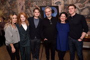 (L-R) Sarah Jessica Parker, Krysty Wilson-Cairns, Dean-Charles Chapman, Sam Mendes, Pippa Harris and George MacKay attend a special screening of '1917', hosted by Sarah Jessica Parker and presented by Universal Pictures and DreamWorks Pictures on December 15, 2019 in New York City.