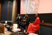 (L-R) Wesley Morris, Jordan Peele and Lupita Nyong'o attend a special screening of 'Us' presented by Universal Pictures on November 06, 2019 in New York City.