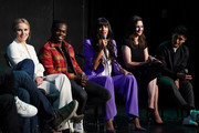 "(L-R) Kristen Bell, William Jackson Harper, Jameela Jamil, D'Arcy Carden and Manny Jacinto attend Universal Television's ""The Good Place"" FYC panel at UCB Sunset Theater on June 17, 2019 in Los Angeles, California."