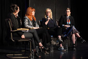 "(L-R) Rebecca Sun, Natasha Lyonne, Amy Poehler and Leslye Headland participate in Universal Television's ""Russian Doll"" FYC panel at UCB Sunset Theater on June 03, 2019 in Los Angeles, California."